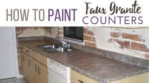 How To Paint Faux Granite - how to paint granite counter tops faux finish decorative
