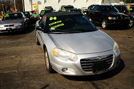 2004 chrysler sebring silver convertible used sale