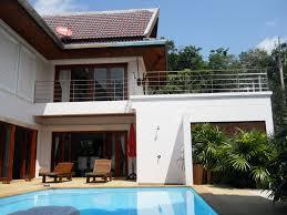 kam7006 ocean view single house private pools garden kamala beach