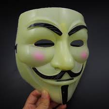 yellow full face v mask vendetta mask super scary halloween party