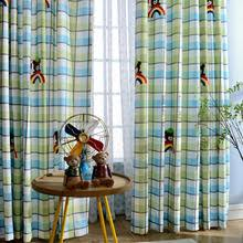 Green Kids Curtains Kids Curtains Room Darkening Cute Balloon Pattern Print