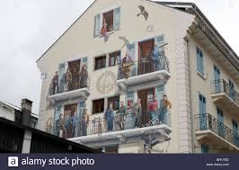 mural painted on the wall of a building in rue doctier paccard in mural painted on the wall of a building in rue doctier paccard in chamonix celebrates the