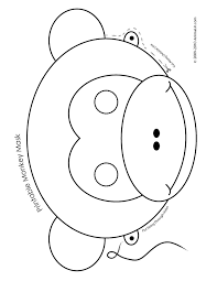 Monkey Paper Plate Craft - free printable monkey mask for monkey mask template free