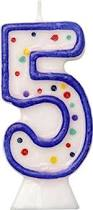 Buy Blue Moulded Birthday Cake Candle Number 5 In Cheap Price On