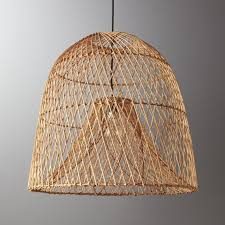 Pendant Fishing Light Cb2 Nassa Basket Pendant Light Pendant Lighting Lights And Nook
