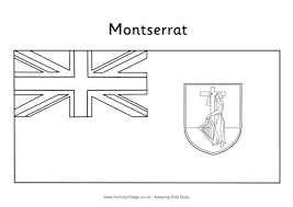 england flag coloring page montserrat flag colouring page