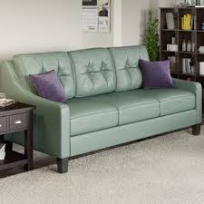 Turquoise Leather Sofa Turquoise Leather Wayfair