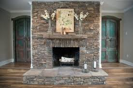 stacked stone fireplace rustic create a distinctive stacked