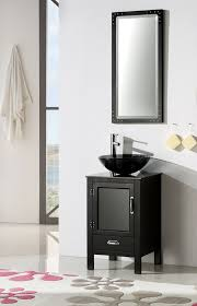 Vessel Sink Bathroom Vanity by Abel 18 5 Inch Black Finish Vessel Sink Bathroom Vanity