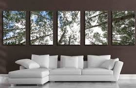 large 5 panel wall art aspen tree canvas decor five multipiece