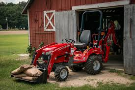 massey ferguson gc1700 series sub compact tractor with dl95 loader