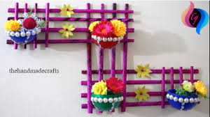 Best Out Of Waste Flower Vase Newspaper Craft How To Make Newspaper Wall Hanging With Flower