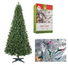 6 ft artificial christmas tree 2 100 ct strings mini lights