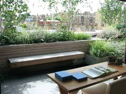 Bench Seat With Planter Boxes Melbourne Bench Planter With Trellis