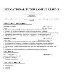 Kindergarten Teacher Resume Sample by Educational Tutor Resume Sample Resumecompanion Com Resume