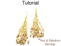 fabulous earrings beading tutorial pattern multi strand gradated cone earrings
