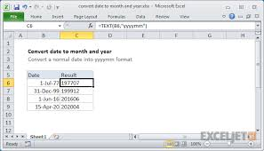 format date in excel 2007 excel formula convert date to month and year exceljet