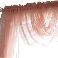 beautiful tea rose vintage shabby chic jcpenney sheer curtains