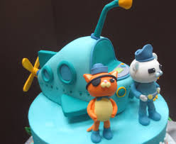 octonauts cake toppers octonauts birthday cake with fondant sea byrdie girl custom