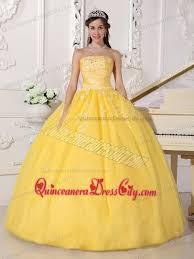 traditional yellow hollywood quinceanera party dresses with
