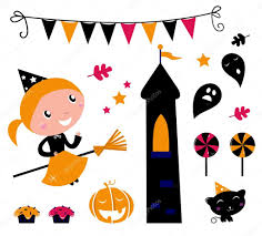 halloween witch u0026 items icons and design elements u2014 stock