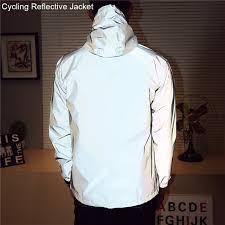 fluorescent cycling jacket 2018 night cycling jacket reflective riding bike jacket men bicycle