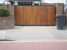Exterior Modern House Wooden Gate Design Idea Exterior