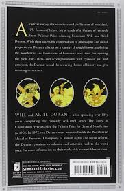 the lessons of history will durant ariel durant 9781439149959