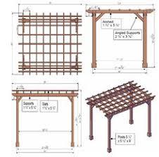 Wood Pergola Designs by Pergola End Cut Designs Pergolas Patterns And Arbors
