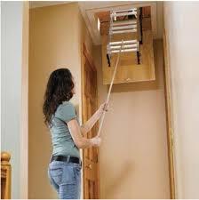 7 ft 9 ft aluminum attic ladder stairs folding pull down kit