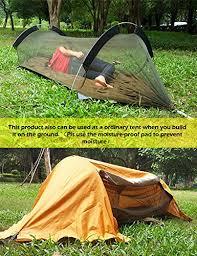 hoaey camping hammock with mosquito net rain cover lightweight
