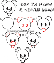 how to draw a bear for kids draw a polar bear art projects for