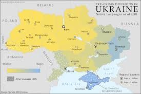 map in language how sharply divided is ukraine really honest maps of language