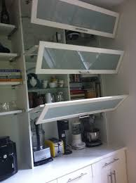 Glass Door Kitchen Wall Cabinets Gorgeous Glass Door Kitchen Wall Cabinet With Flip Up Kitchen