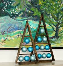 diy wood a frame triangle ornament stand diy wood triangles and