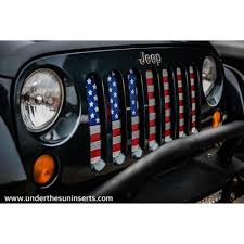 jeep american flag under the sun old glory wrangler jk grille insert usa flag 2007
