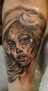3d sugar skull sleeve meaning design idea for