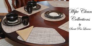 Sweet Pea Linens Outdoor Fabric Collection Of Placemats For Round