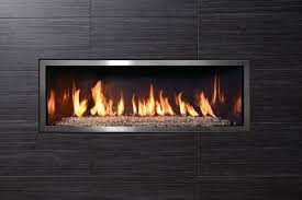 linear gas fireplace binhminh decoration