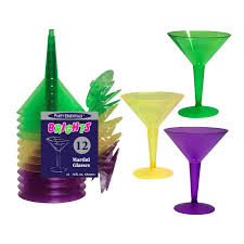 party essentials hard plastic two piece 8 ounce martini glasses
