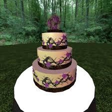 second life marketplace gothic wedding cake purple