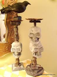 halloween decorations dollar store handmade spooky halloween decor dollar store skull candlesticks