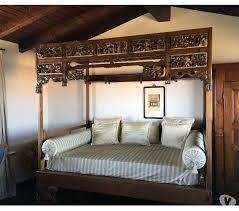 letto a baldacchino antico letto etnico a baldacchino indonesiano antico artigianale in