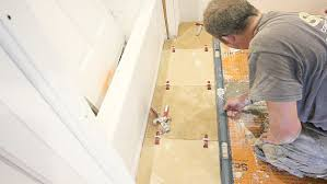 How To Level A Bathroom Floor How To Tile A Bathroom Floor With Travertine Tile And Get Great