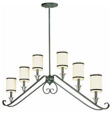 Chandelier Island Thomas Natural Slate 6 Light Chandelier Island With Shades