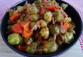 cuisiner choux bruxelles choux de bruxelles au poivron bacon et coulis de tomates light