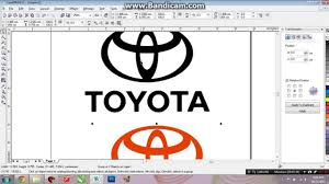 logo toyota belajar corel draw logo toyota youtube