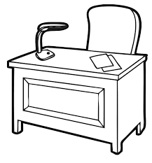 Black White Desk by Black And White Desk Clipart Collection