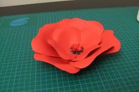 diy poppy flower made of paper youtube