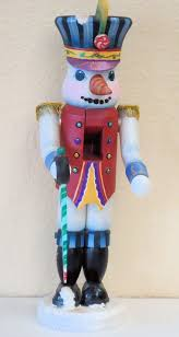 decorative painting a painted wooden tole snowman soldier